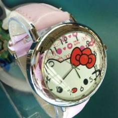 LIVRARE GRATUITA ! DRAGUT CEAS HELLO KITTY, IDEAL PENTRU TINERE MODERNE - Ceas dama Hello Kitty, Quartz, Nou
