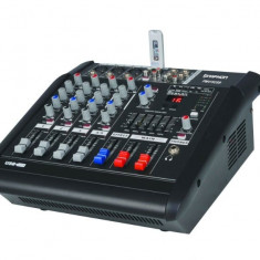 MIXER AUDIO PROFESIONAL AMPLIFICAT, EGALIZATOR, EFECTE DSP, MP3 PLAYER INCLUS.