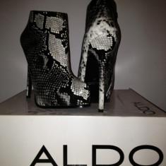 Botine dama Aldo, Marime: 38, Gri - Botine ALDO, noi, toc stiletto