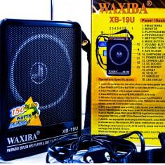 Aparat radio - Boxa portabila cu ACUMULATOR&radio+AFISAJ
