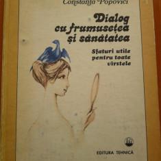 DIALOG CU FRUMUSETEA SI SANATATEA - Constanta Popovici - Carte Ghidul mamei