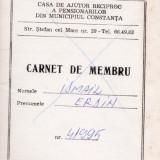 CARNET DE MEMBRU CASA DE AJUTOR RECIPROC A PENSIONARILOR - Pasaport/Document