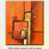 Tablou modern abstract - Proiect simfonic - ulei in relief 60x50cm, LIVRARE GRATUITA 24-48h