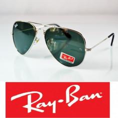 Ochelari Ray Ban - Ochelari de soare Ray Ban, Unisex, Verde, Pilot, Metal, Fara protectie
