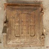 Usa din fonta veche pentru soba teracota, reducere