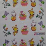 Tatuaj transfer pe baza de apa sticker pentru decorare unghii Paste 2014 BLE 406a - Unghii modele