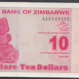Bancnota Straine - Zimbabwe 10 dolari 2009 UNC