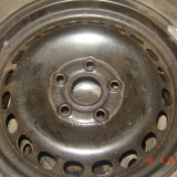 Jante otel VW originale + 4 cauciucuri 195/65/15 - Janta tabla