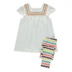 Noi! Compleu superb de vara alb-colorat, marca George, fete 3-4 ani/ 104 cm, Culoare: Multicolor, Compleuri