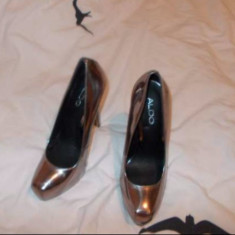 Pantofi dama Aldo, Marime: 37, Auriu - PANTOFI PIELE NOI ALDO NR 37