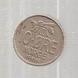 Moneda - Norvegia - 10 ORE 1968