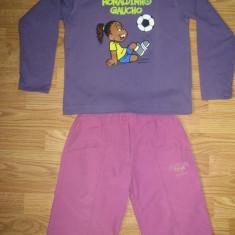 Set bermude Champion si tricou Ronaldinho Gaucho, bumbac, pentru fete de 8 - 9 ani, Culoare: Ciclam