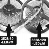 Banda LED 1M 100cm SMD 3528 120 LED/M Rosu - Led auto