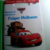 Carte de povesti - Deseneaza si coloreaza cu Fulger McQueen