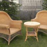 Set mobilier rattan 2 fotolii + 1 masuta - Set gradina