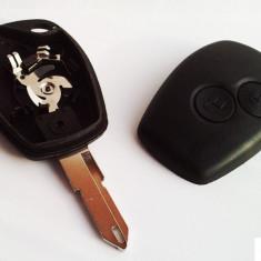 Carcasa cheie Auto - Carcasa cheie Renault / Logan 2 butoane auto + lama, elemente de fixare baterie si surub