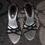 Sandale dama, Marime: 35.5, Gri - Sandale elegante