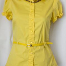 Bluza stil camasa de la ORSAY, marimea S - Camasa dama, Culoare: Galben, Maneca scurta, Galben