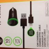 Incarcator auto Iphone 5 , 5S ,6 cu cablu 1,2 m Belkin original