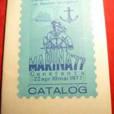 Catalog Expozitie Filatelica Marina '77, 40 pag.