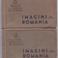 Carnete cu 9 vederi turistice ONT interbelice- Romania