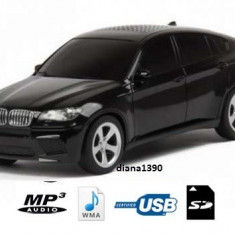 Boxe Telefon - Boxa portabila MP3 player si radio masina BMW x6 NEGRU