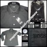 CAMASA NEAGRA BARBATEASCA FIRMA HUGO BOSS SELECTION REGULAR DREAPTA NORMALA