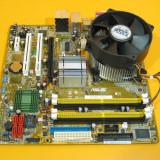 PLACA DE BAZA ASUS P5LD2VM + PROCESOR INTEL P4 2.93 + COOLER FOARTE SILENTIOS | SUNET 6.1CH | VIDEO INTEGRAT| GARANTIE 6 LUNI, Pentru INTEL, LGA775, DDR2, Contine procesor, MicroATX