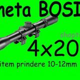 LUNETA metalica Bosile  4X20 + prindere  Arma Arbaleta Pusca Pistol Airsoft
