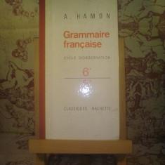 Roman - A. Hamon - Grammaire francaise