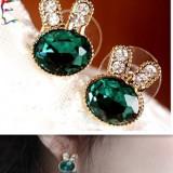 Cercei urechi iepure Cercei iepure cercei cristal iepure cercei lovely alloy crystal cercei iepuras cercei diamant iepure bijuterii ureche cercei - Cercei Fashion