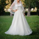 Rochie de Mireasa (voal cadou) - Rochie de mireasa printesa
