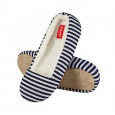 Papuci dama - Papuci de casa 40656 - dungi bleumarin