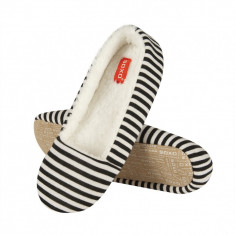 Papuci dama - Papuci de casa 40656 - dungi negru