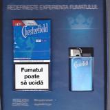 Pachet de tigari Chesterfield si bricheta originala in cutie speciala