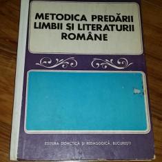 Carte Psihologie - METODICA PREDARII LIMBII SI LITERATURII ROMANE