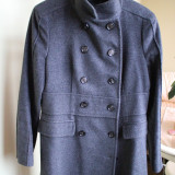 Palton Zara, lana si angora - Palton dama Zara, Marime: 38, Culoare: Din imagine, Antracit, M