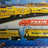 SET TREN CU SINA CU BATERII | JUCARIE BAIETI +3 ANI - Trenulet de jucarie, 2-4 ani, Electrice, Plastic, Baiat
