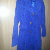 PARDESIU TRENCI PALTON ALBASTRU marime 38-40 - Palton dama