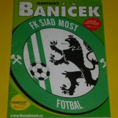 Program meci fotbal FK SIAD MOST - SK DYNAMO CESKE BUDEJOVICE 2008 (echipe din Cehia)