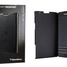 HUSA OFICIALA - CLASSIC MODERN - BlackBerry Passport PIELE NEGRU - Husa Telefon Blackberry, Piele Ecologica