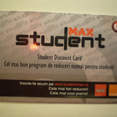 STUDENT DISCOUNT CARD - STUDENT MAX . - Card Bancar