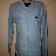 Camasa jeans, Wrangler, 100% originala - Camasa dama Wrangler, Marime: XL, Maneca lunga