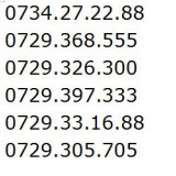 Cartela Vodafone - Cartele vodafone, numere de exceptie