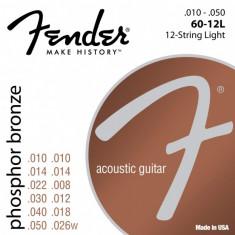 Corzi chitara acustica Fender 60-12L Phosphor Bronze 12 strings 10-50