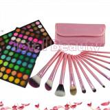 Trusa profesionala Machiaj 120 culori Fraulein38 Germania, Rainbow + 12 pensule - Trusa make up