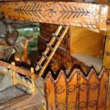Moara din lemn din zona MARAMURESULUI .ptr decor . - Sculptura