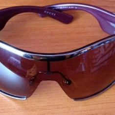 Ochelari de soare Gucci, Originali, Femei, Violet, Rotunzi, Metal, Protectie UV 100%