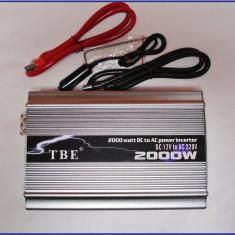 Invertor ( convertor ) 12v la 220V 2000 W TBE ! CALITATE - Invertor Auto