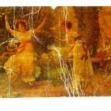 Carte postala - ARTA - NATURA - Peisaj - Fete - Primavara - necirculata anii 1910-1920 - 2+1 gratis toate produsele la pret fix - RBK4069